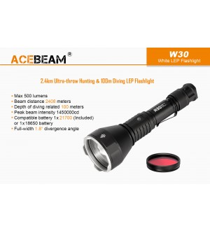 Acebeam W30 LEP Flashlight, 2408m throw