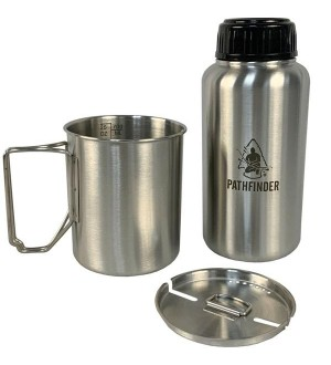 Pathfinder 32 oz Stainless Steel Water Bottle and Nesting Cup Set