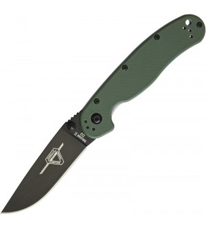 Ontario RAT Model II Folder D2 Blade Steel, Olive Drab Handles with Black Blade ~ 8830OD