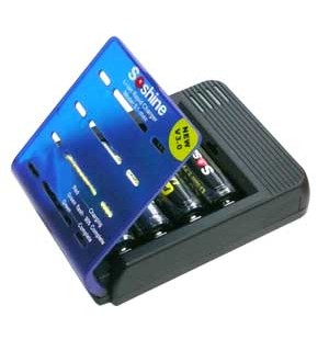 Soshine Charger S1 MAX Li-ion 4 bay, fast charge 1amp per bay
