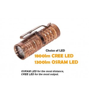 ACEBEAM TK16 Copper, Choice of CREE LED or OSRAM LED